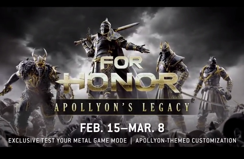 For Honor Apollyon's Legacy Event  - Computer/Console Trailer: For Honor Apollyon's Legacy Event