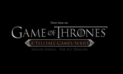 Game of Thrones The Ice Dragon, A Telltale Games series