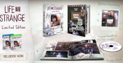 Life is Strange Limited Edition for PS4 and Xbox One.