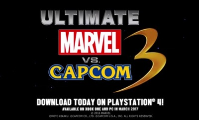 Ultimate Marvel Vs Capcom 3 PlayStation 4 re-release